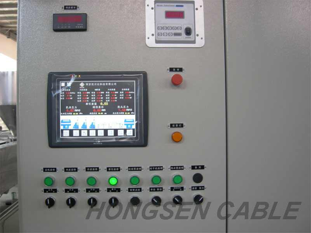 Core Extrusion-Line-Control Cabinet.